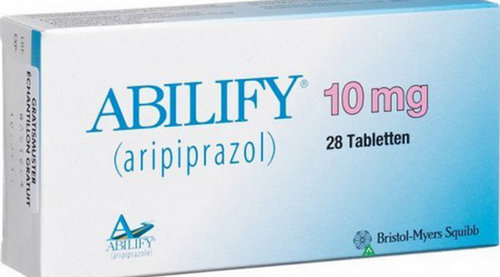 An image of abilify drug in 10 mg tabletten form.photo